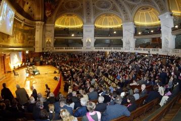 Le grand amphithéatre de la Sorbonne.