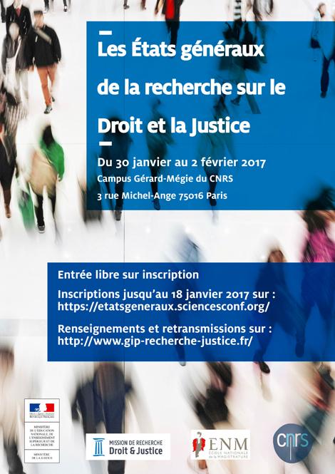 Affiche EG recherche droit justice