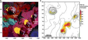 Carte géologique Mars