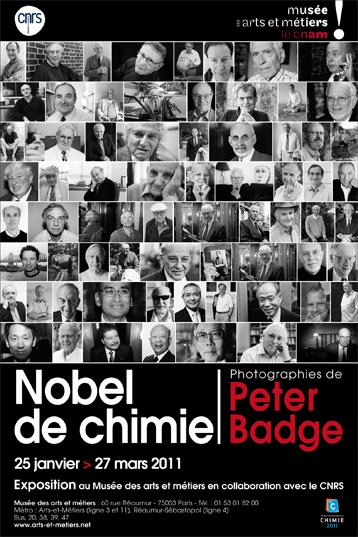 Affiche expo Nobel de chimie