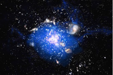 Galaxie et gaz froid