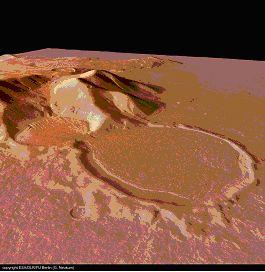 Glacier sablier Mars