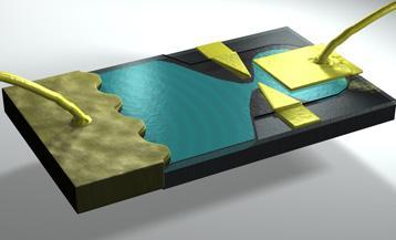 Vue d'artiste d'un circuit RC quantique
