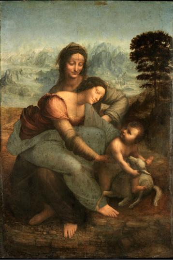 La Vierge avec l'Enfant Jésus et Sainte Anne, face et revers