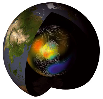 A core problem inside the earth cnrs web site cnrs for Interieur de la terre