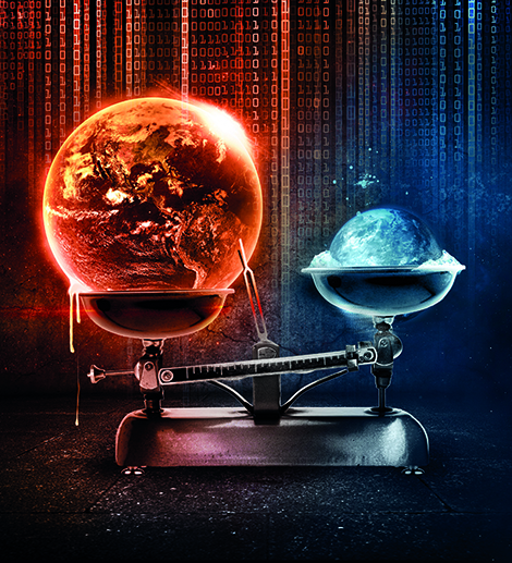 Ilustração que descreve a forte probabilidade de temperaturas anormalmente quentes para o período de 2018-2022, com base no sistema de previsão climática inter-anual PROCAST (PRObailistic ForeCAST). © François Lamidon (flamidon.com)
