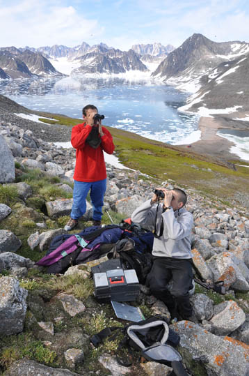 Field work in Greenland