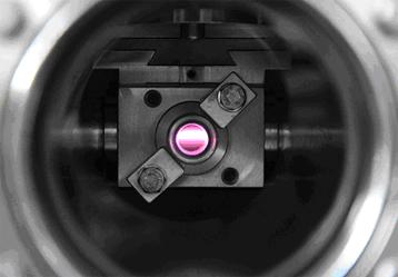 Ultravioleta polarizada circularmente haz de luz