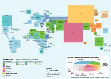 carte mondiale des religions
