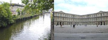 canal de l\'Ourcq et cour carrée du Louvre